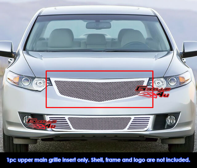 Fits 2009-2010 Acura TSX Stainless Steel Mesh Grille Grill