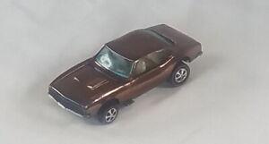 Restored-Hot-Wheels-Redline-1968-Custom-Camaro-Brown