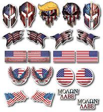 21 3m Small Hard Hat American Flag Decal Sticker Trump Skull Molon Labe Hard Hat