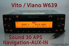 Mercedes Original Navigationssystem W639 Vito V639 V-Klasse Sound 30 APS AUX-IN