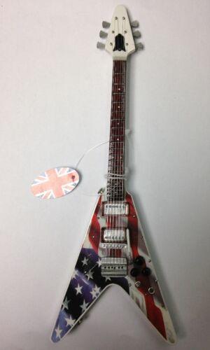 Baby Axe Miniature Guitar ~ BA28 ~ STARS 'N' STRIPES ~ Strat/Tele/Flying V