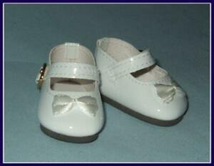 "WHITE Classic Doll Shoes For 14/"" American Girl Wellie Wisher Wishers Debs"