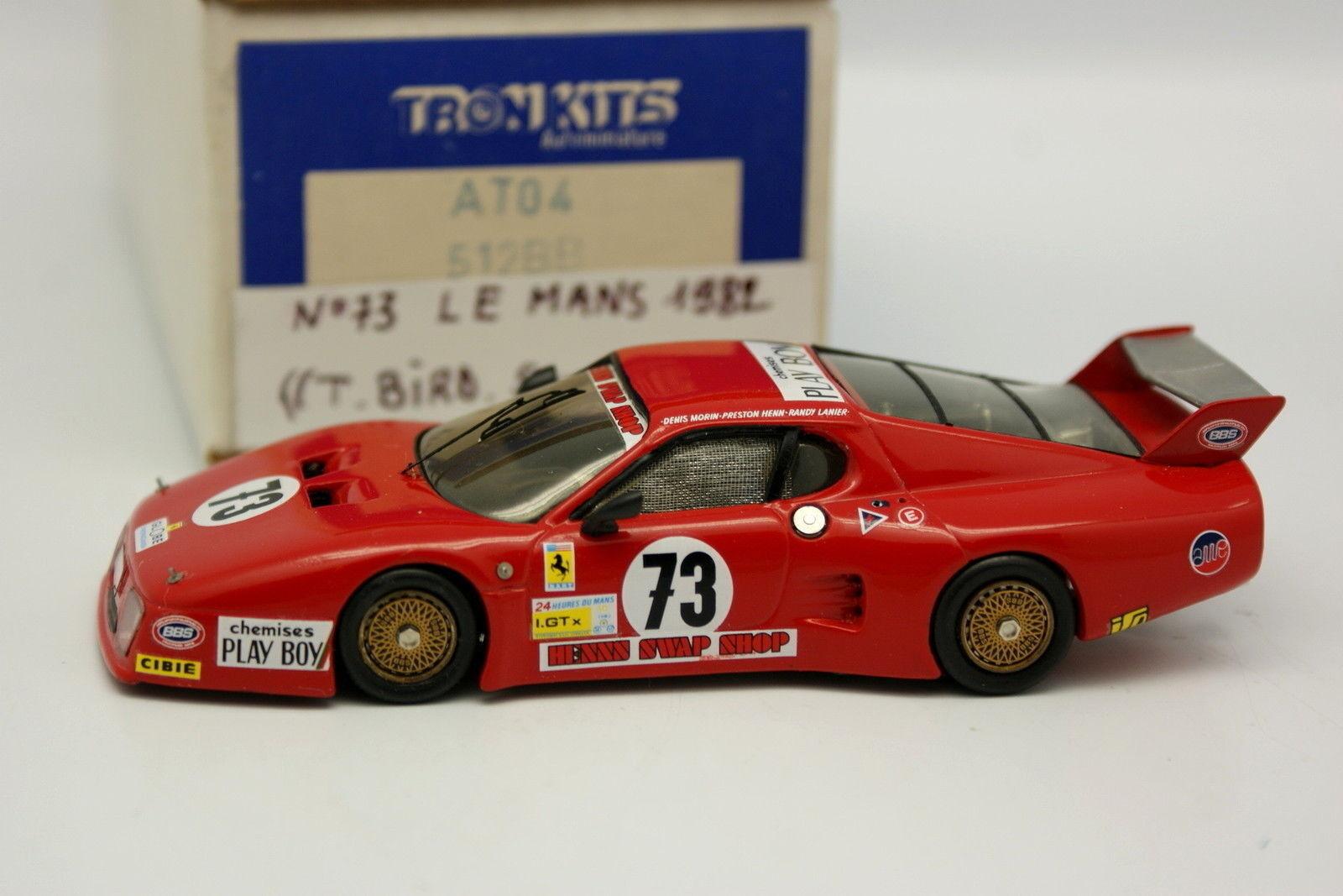 AMR Kit Montado 1 43 - Ferrari 512Bb Tbird Swap Shop Le Mans 1982 N º 73