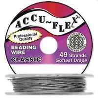 100' Accuflex Clear 49 Strand .019in Accu-flex Beading Wire
