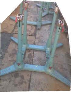 Mobiliar & Interieur 126/98 Cm Tischfuß 2019 Offiziell Rational Vintage Turnbarren Fuß Gusseisen Benz Turngeräte 115/ 86
