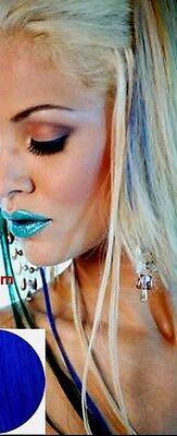 Haarverlängerung  Clip In Clips Extensions  70 cm  Blau 6 Tlg  Strähnen Haarteil