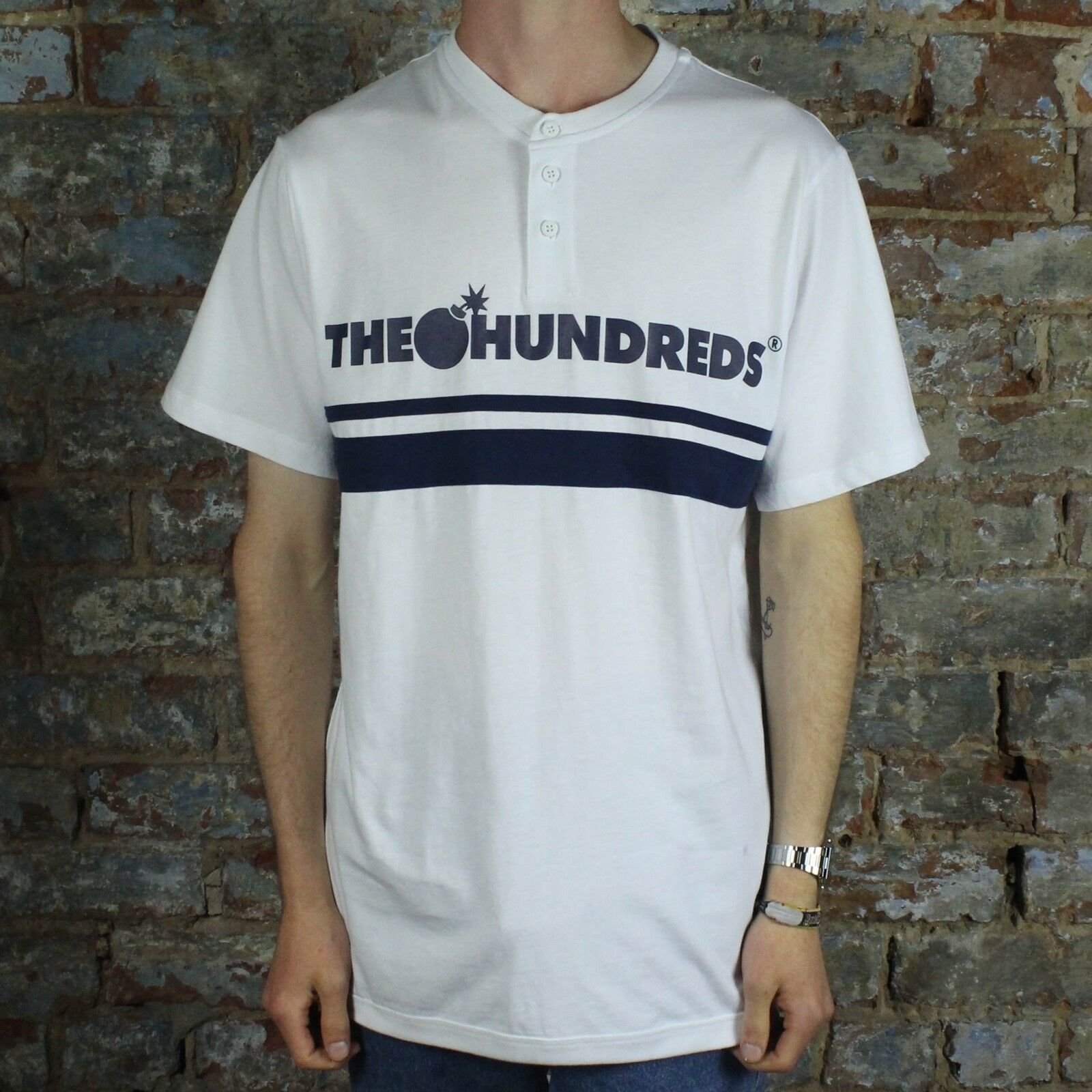 The HundROTs Pacific Henley T-Shirt Jersey - New in Weiß in Größe S,L