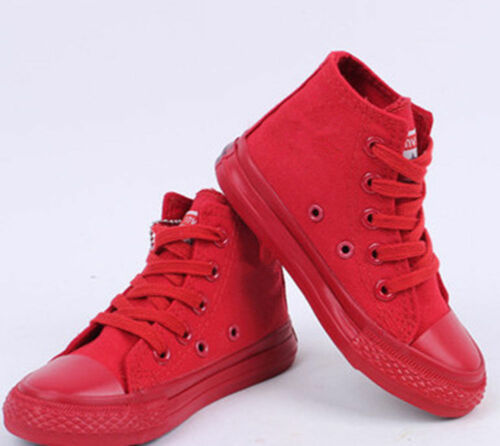 Unisex Athletic Classic Shoes Casual Canvas Low Top Children Sneakers Shoes