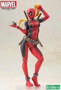 Marvel Comics ~ Statue de Lady Deadpool Bishoujo X-men Kotobukiya Koto 812771022309