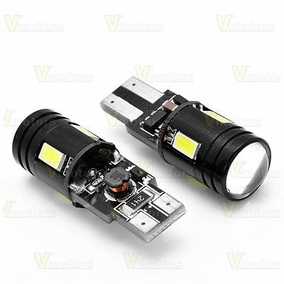 2X White Canbus Error Free T10 T15 W5W CREE SMD LED Parking Backup Reverse Light