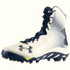 aefe4068bca2 Image is loading Under-Armour-Spine-Brawler-Clutchfit-White-Navy-Football-