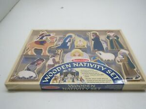 Details About Melissa Doug Wooden Nativity Set 12 Pieces New In Box Ages 4