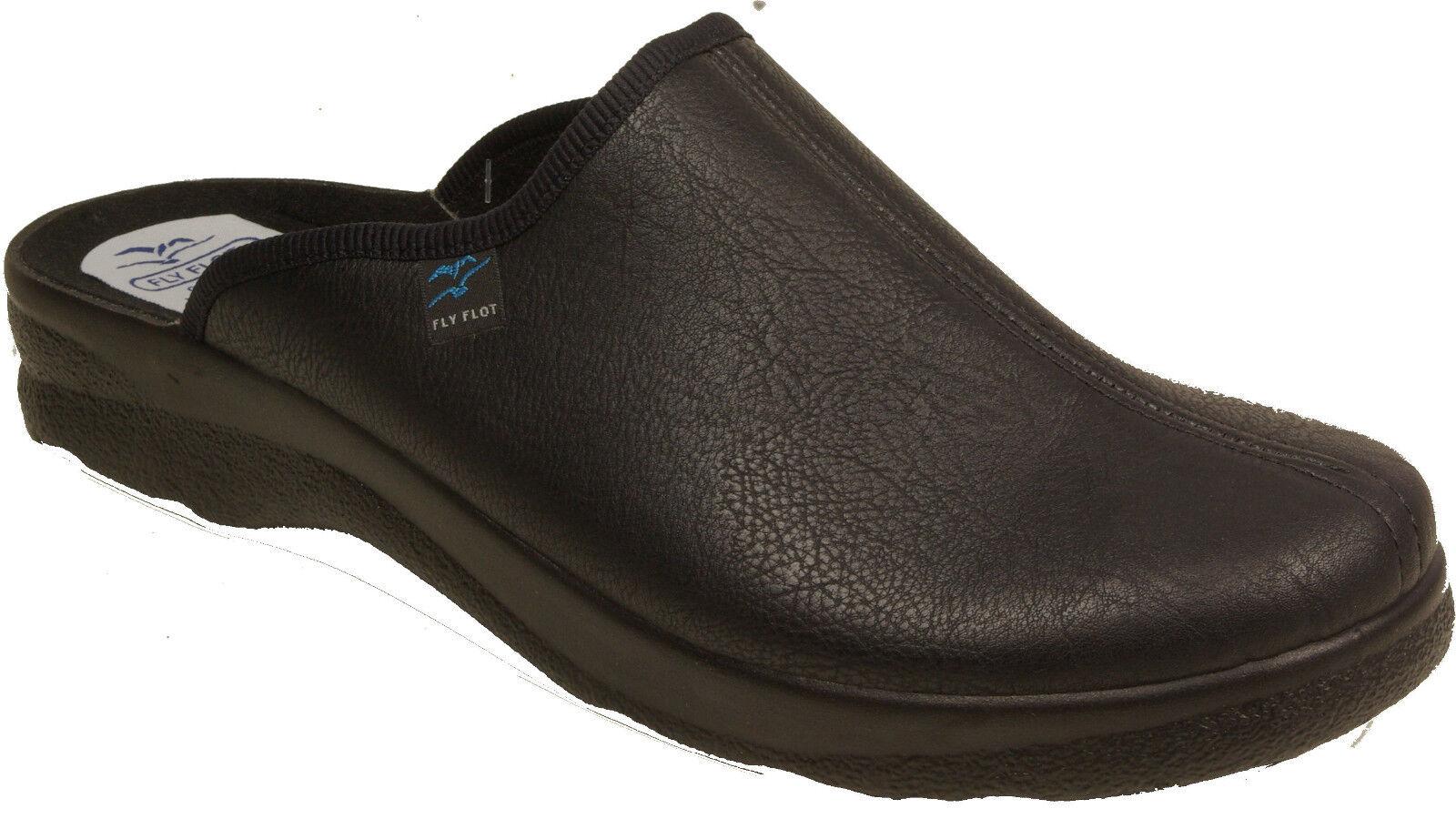 FLYFLOT Hausschuhe Pantoffeln outdoor indoor black  NEU