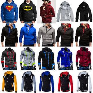 Hombre-Invierno-Sudadera-Jersey-con-capucha-abrigo-Chandal-Sueter