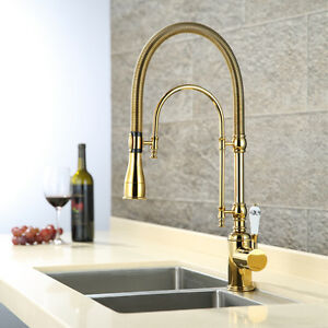 ... Brass Kitchen Sink Faucet Single Handle Double Hole Mixer Tap eBay