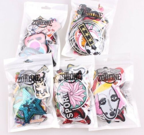 DIY Clothes Patches For Adults Kids Iron-On Transfer Clothing Applique 30pcs New