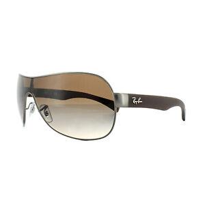 ddc835be2440f Image is loading Rayban-Sunglasses-3471-Gunmetal-Metal-Matt-Brown-Gradient-