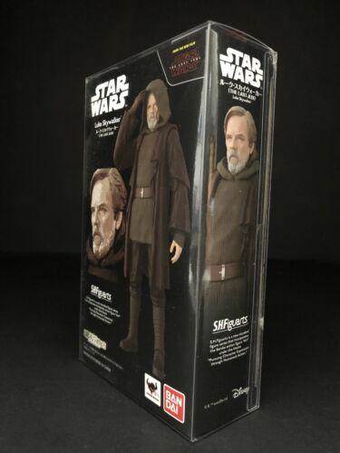 Star Wars Bandai S.H Figuarts Luke Skywalker TLJ PROTECTEUR DISPLAY CASE