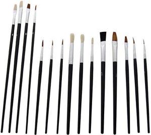 Artist-Brushes-15-Paint-Brush-Set-Assorted-Sizes-Acrylic-Oil-Brushes-UK-SALE