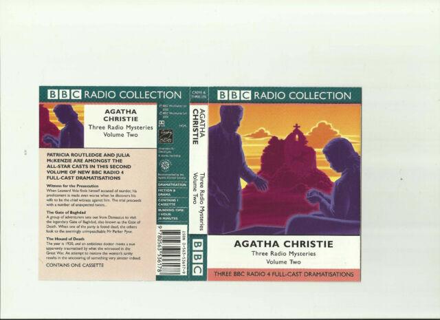 AGATHA CHRISTIE: THREE RADIO MYSTERIES. VOLUME TWO (2002) CASSETTE AUDIOBOOK