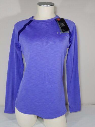 L $50 M Womens Under Armour 1281244 ColdGear LS Base Layer Crew Shirt Purple S