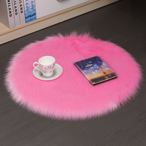 Home Carpet Floor Mat Shaggy Fluffy Rug Room Area Dining Anti-Skid