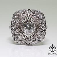 Antique Art Deco Platinum 1ctw Diamond Ring