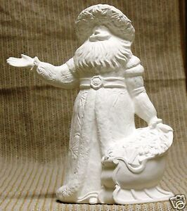 Ceramic-Bisque-Poinsettia-Santa-from-Gare-Mold-3021-U-Paint-Ready-To-Paint