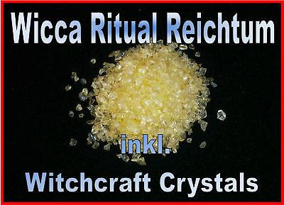 Erfinderisch Wicca Geld Ritual Reichtum Inkl. Witchcraft Crystals Profi Magie Top Bewertung Fortgeschrittene Technologie üBernehmen