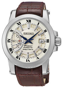 Seiko SRG013 SRG013P1 Mens Premier Kinetic Direct Drive Watch RRP $895.00