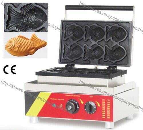 Commercial Nonstick Electric Japan Taiyaki Fish Waffle Maker Iron Machine Baker