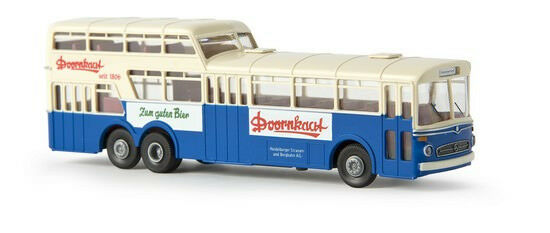Brekina 61013 Mercedes Benz O317 Anderthalbdecker Bus HSB H0 1:87 NEU & OVP
