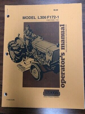Woods Finish Mower L306 F172 1 Operator S Manual For Ford 1720 10 88 EBay