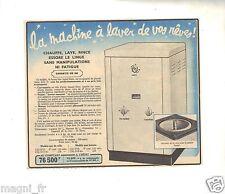 Publicité 1957 - Machine à laver