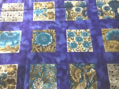WILLIAM DE MORGAN Style Fabric Fat Quarter Cotton Craft Quilting Ceramic Tiles