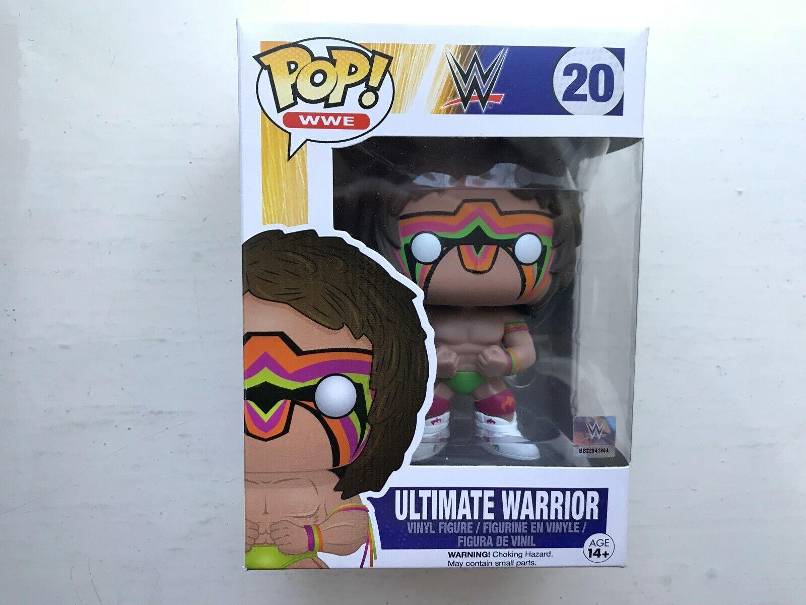 In scatola diverdeimentoKO POP Vinile WWE Serie il ULTIMATE  Warrior Wrestling cifra  20  controlla il più economico
