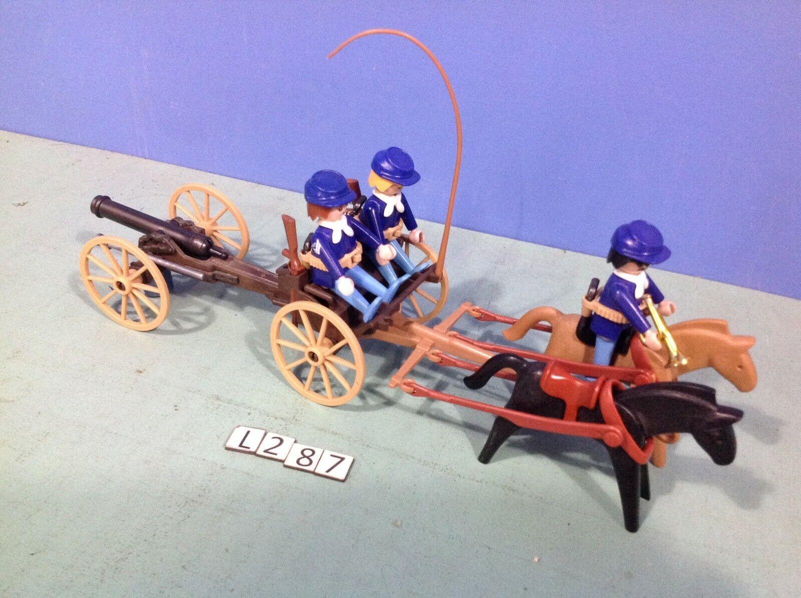 (L287) playmobil Chariot canon Nordistes ref 3729 western Sudistes 3806 5245