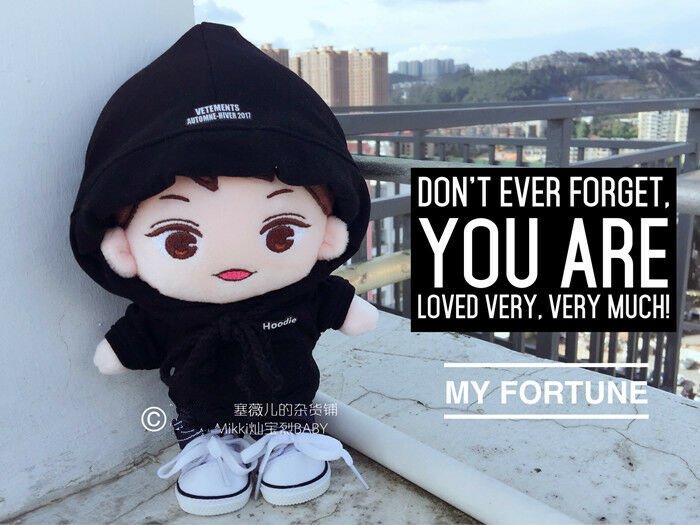Hand-made Kpop EXO XOXO Park Chanyeol Doll Clothes Cool Hoodie Stuffed Gift Be