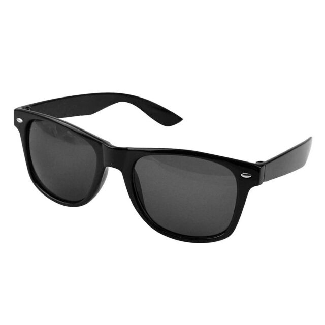 10d6a4a539 Black Sunglasses UV400 Unisex Retro 80 s Geek Shades Classic Sun Glasses  Protect