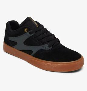 Scarpe-Uomo-Casual-Skate-DC-Shoes-Kalis-Vulc-Black-Grey-Gum-Schuhe-Chaussures
