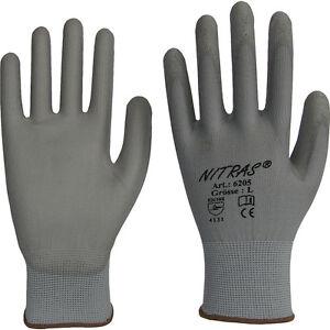 1 Paire De Gants De Manutention Nylon, Revêtus Pu (taille 6-7-8-9-10) Qp2pevs0-07213613-369944539