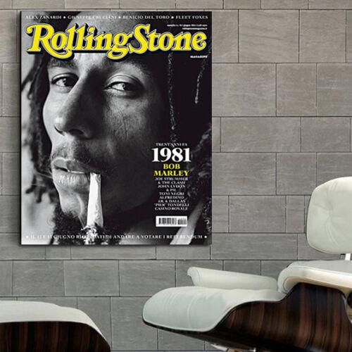 Poster Mural Bob Marley Reggae Musician 40x50 inch Adhesive Vinyl 100x125 cm