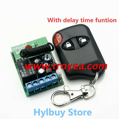 Relay Wireless Remote Control RF Switch On/off Switch + Delay Time Timer DC 12v