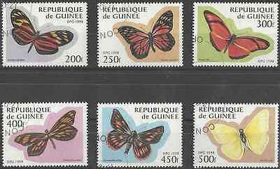 Briefmarken Motive Aufstrebend Briefmarken Schmetterlinge Guinea 1161a/f O Los 19359 Knitterfestigkeit