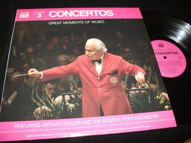 ARTHUR FIEDLER<>CONCERTOS° TIME LIFE N0.3<>LP Vinyl~USA Pressing<>STLS 6003