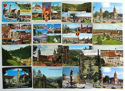 Intelligent Schwarzwald Black Forest Postkarten Lot 17 X Freudenstadt Ak Gelaufen, Frankiert