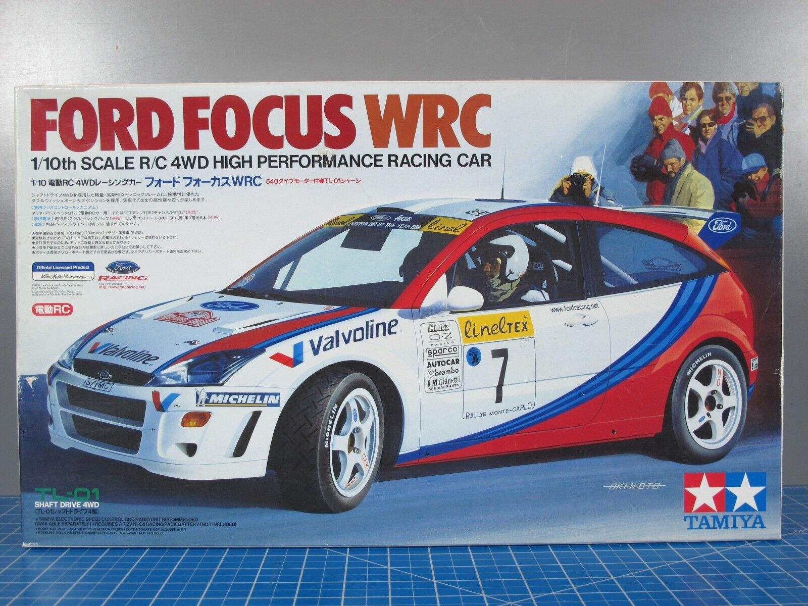 Rare Vintage Tamiya R C 1 10 Ford Focus WRC TL-01 Shaft Drive Chassis  58241 KIT