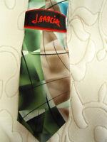 Mens J. Garcia Lady W/ Argyle Socks 100% Silk Mens Dress Tie Green Blue