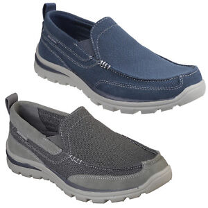 Skechers Relaxed Fit: Superior-milford Chaussures Homme Mémoire Foam Baskets 64365-afficher Le Titre D'origine