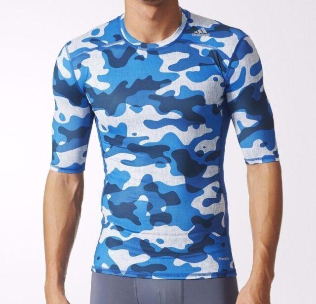 Camiseta de entrenamiento adidas TechFit base corriendo gimnasio Jersey shirt Top Camo